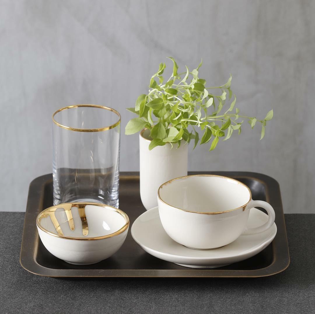 Turkish Coffee Set with Gold Veneer - Cities of Design Network
